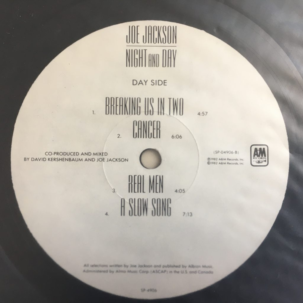 Night and Day Day side label