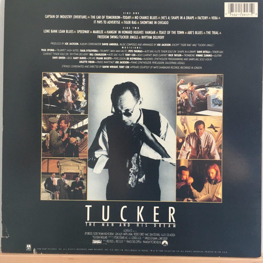 Tucker soundtrack back cover