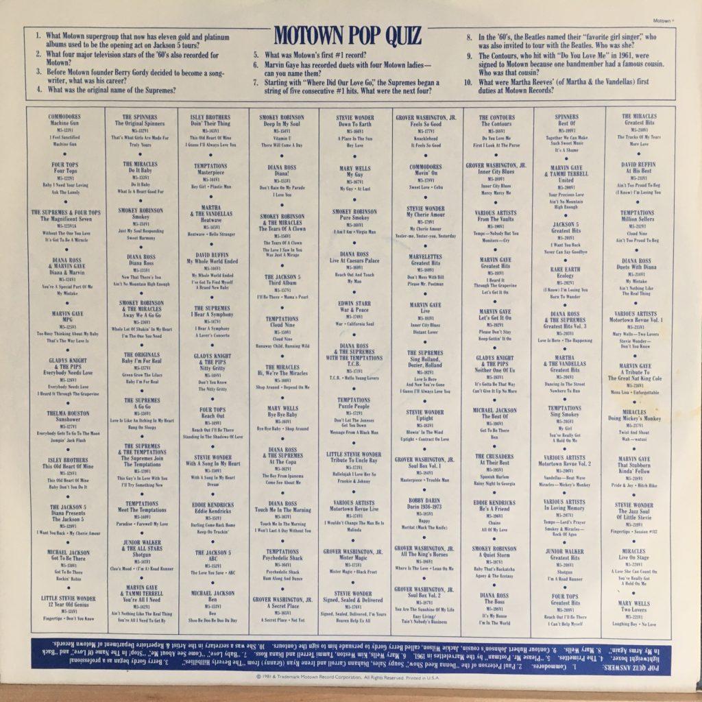 Motown promo sleeve