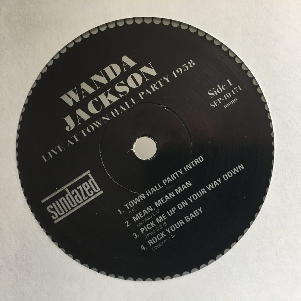 Lovely classic label for Wanda Jackson