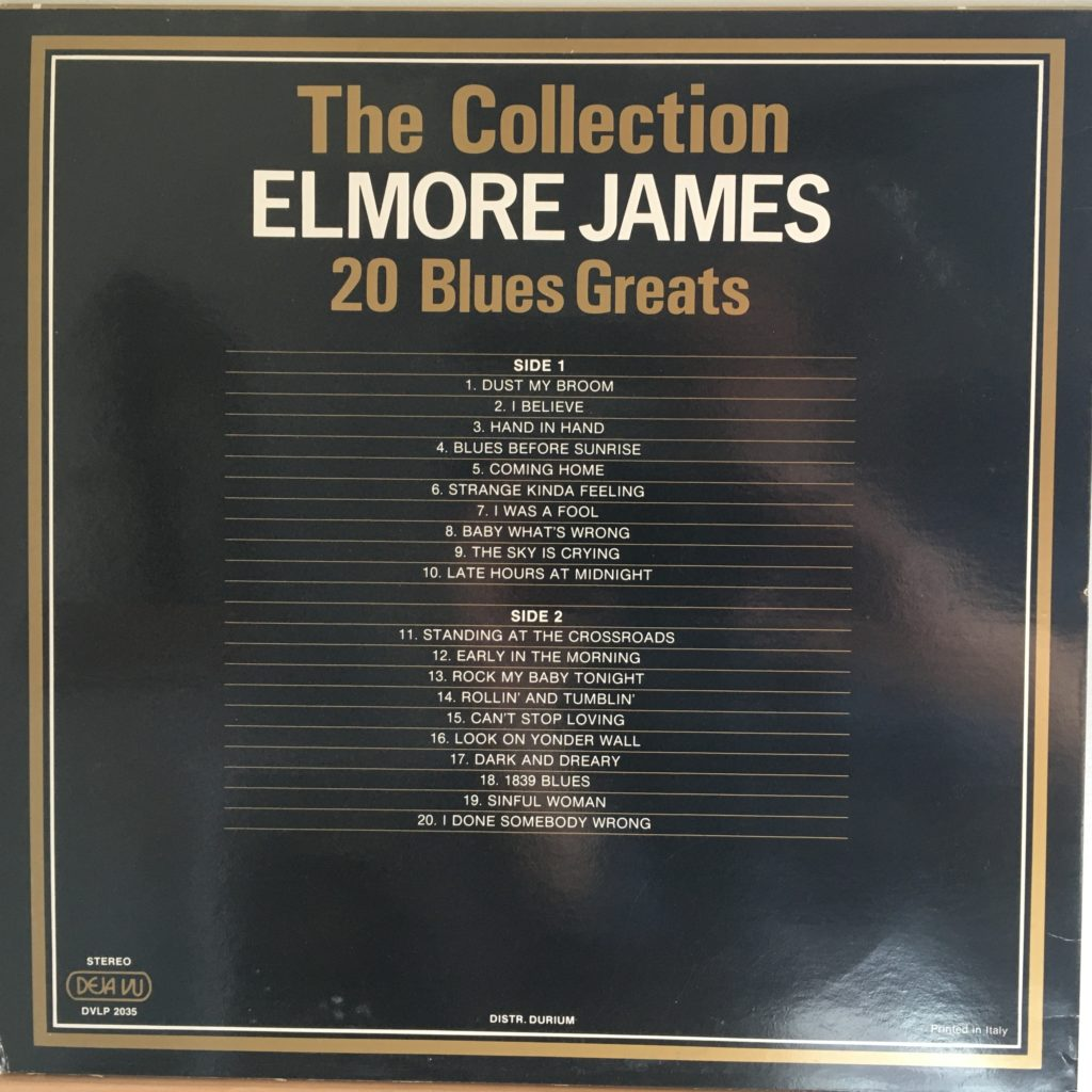 Elmore James Collection back cover