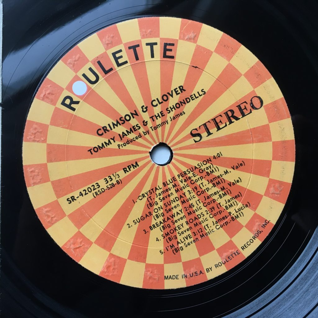 Crimson & Clover Roulette label