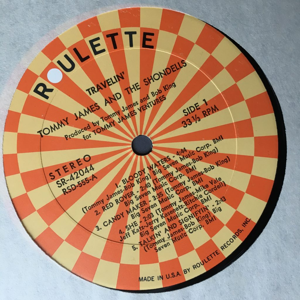 Travelin' Roulette label