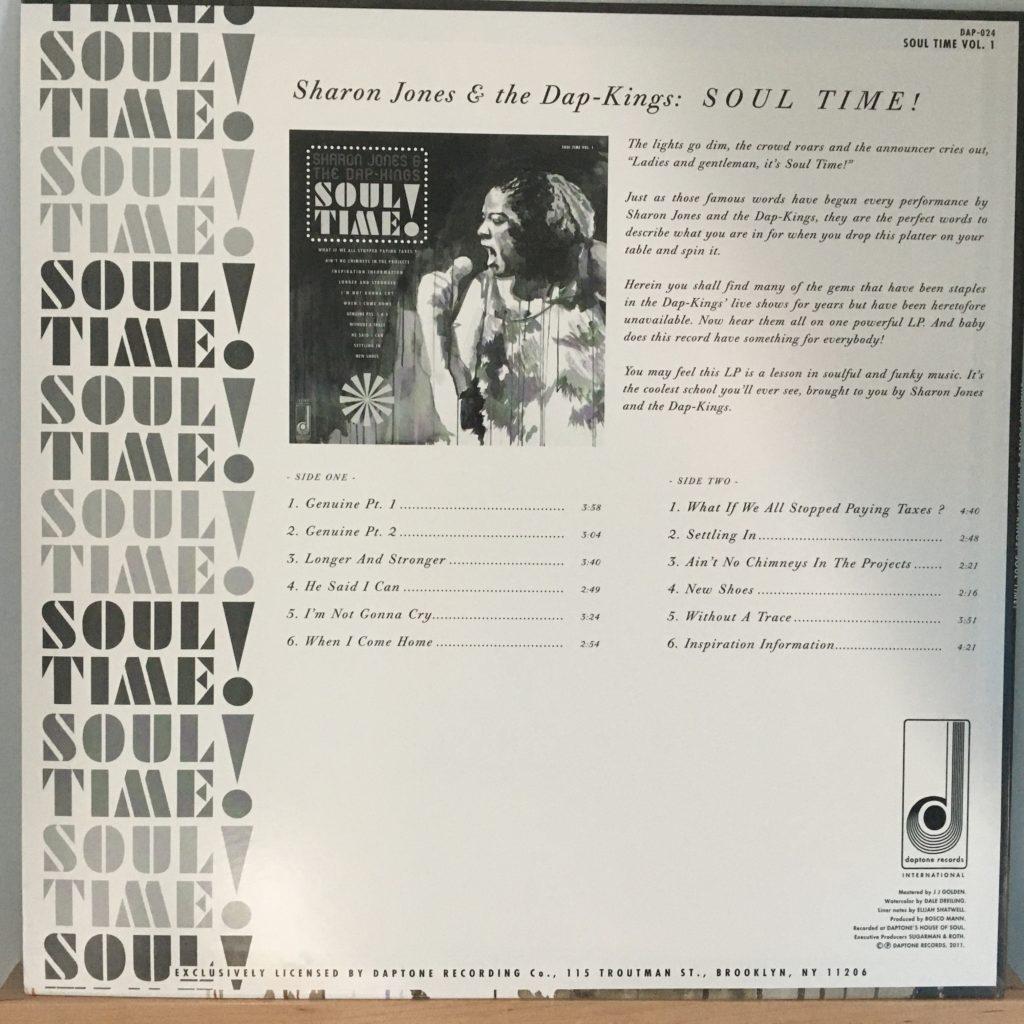 Sharon Jones & The Dap-Kings Soul Time! back cover