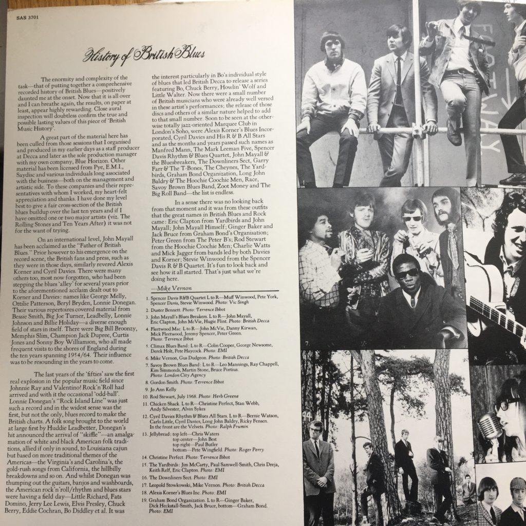 History of British Blues gatefold