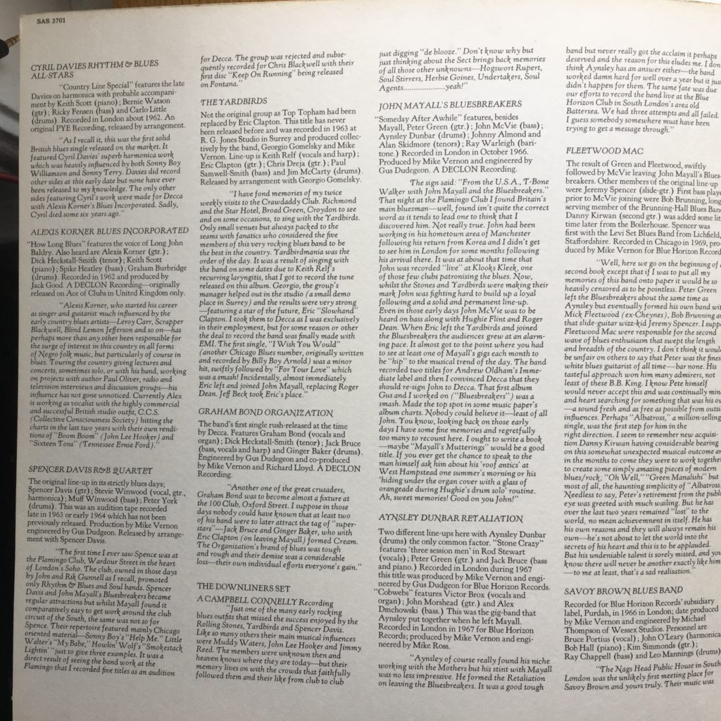 This album has an additional page insert in the gatefold, with AMAZING liner notes