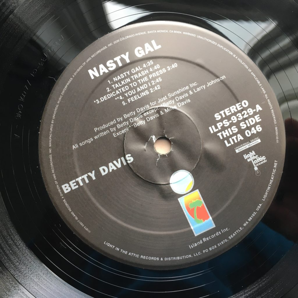 Betty Davis Nasty Gal label