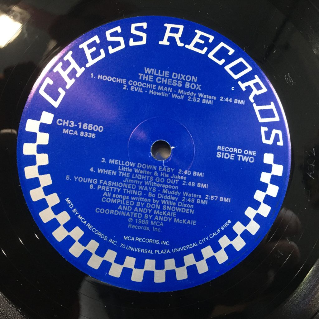 Chess Records Label for Willie Dixon