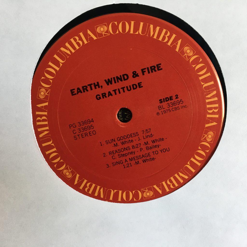 Gratitude Columbia standard label