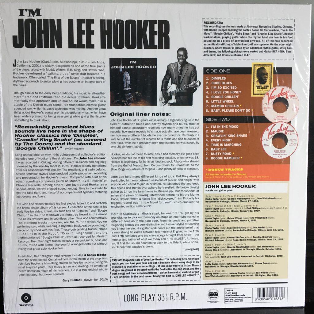 I'm John Lee Hooker front cover