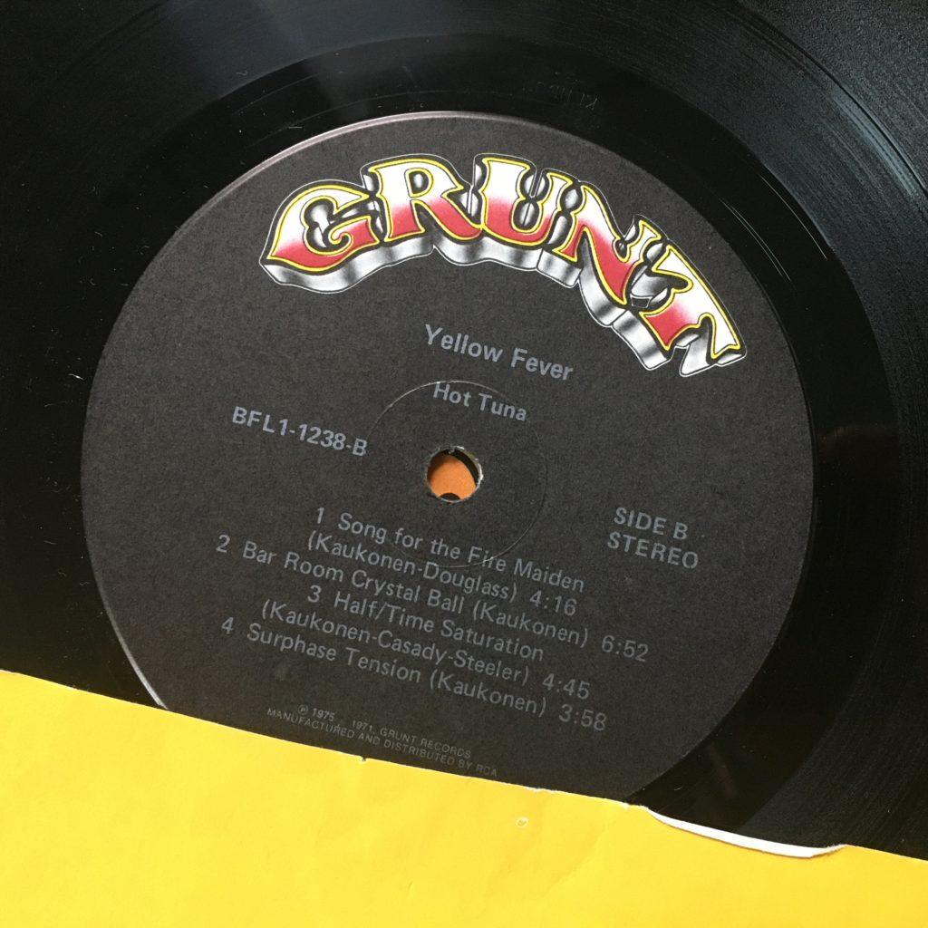 Hot Tuna Yellow Fever label