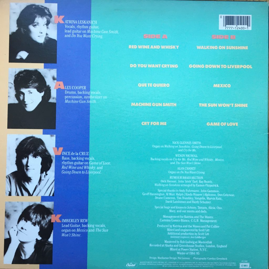 Katrina and the Waves back cover