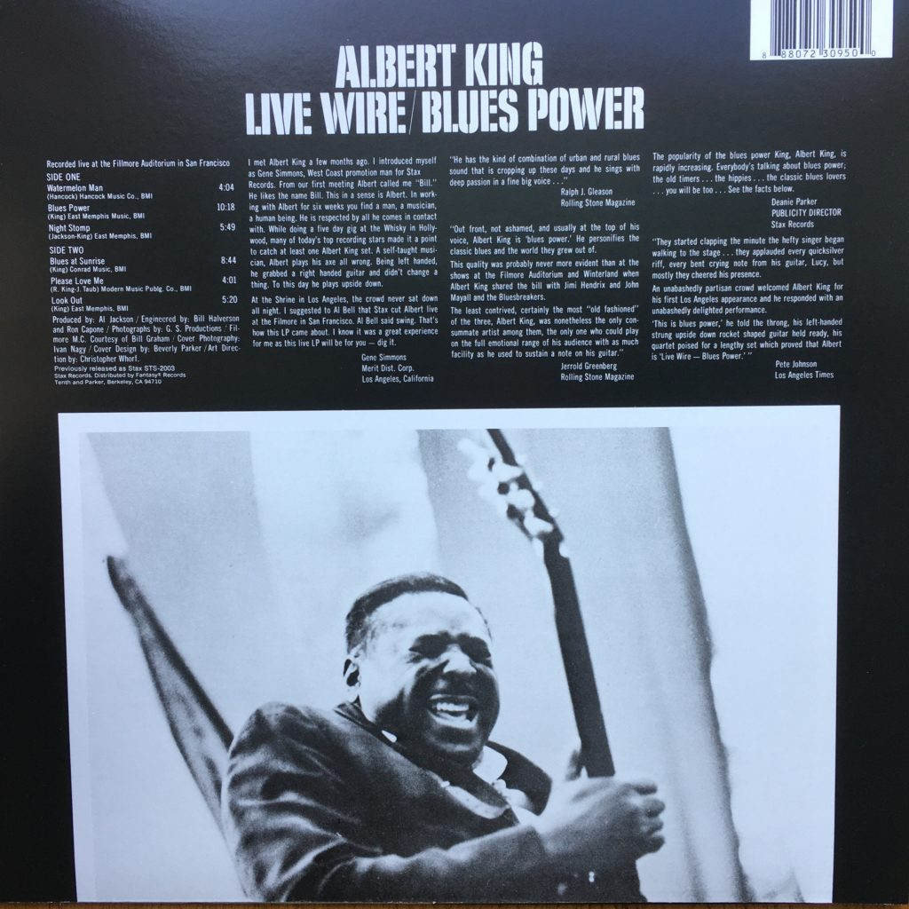 Live Wire / Blues Power back cover