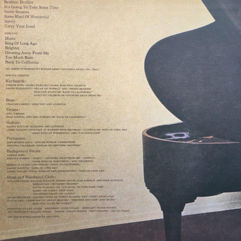 Carole King Music gatefold left