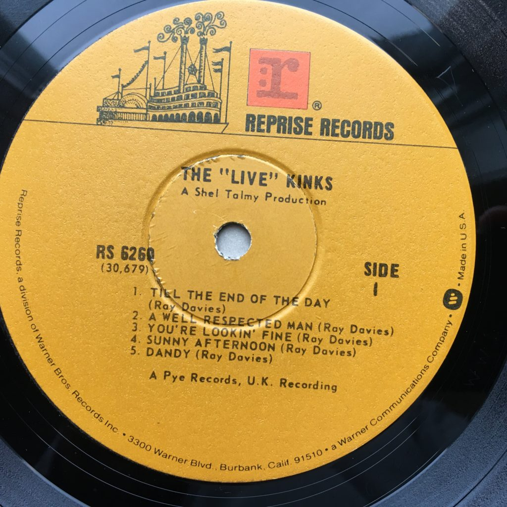 The Live Kinks Label