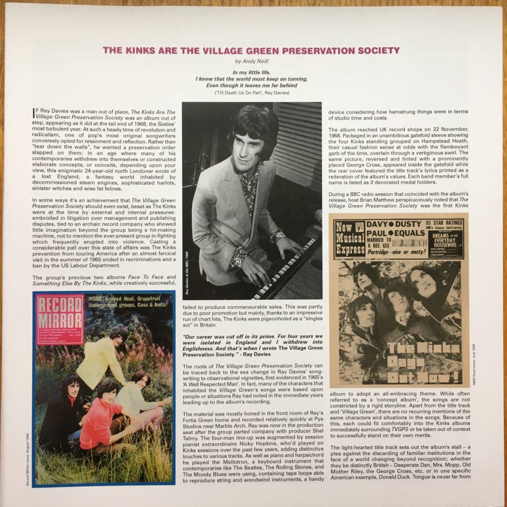 Village Green Preservation Society booklet