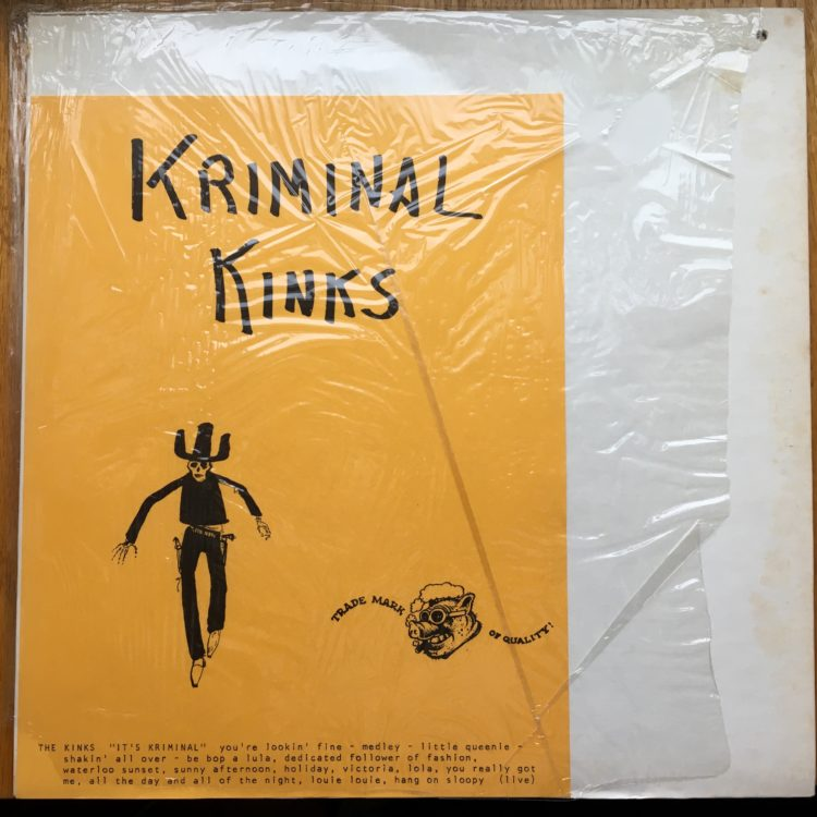 Kriminal Kinks bootleg cover