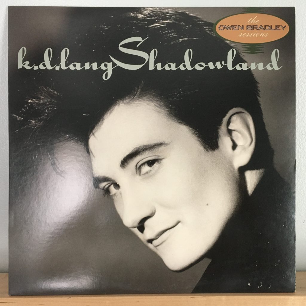 k.d. lang Shadowland front cover
