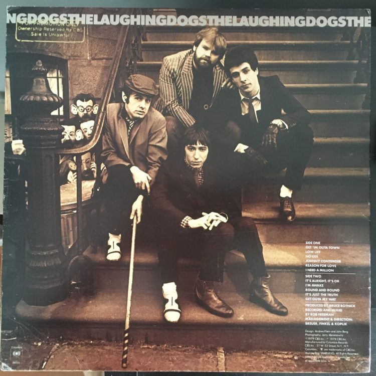 The Laughing Dogs back cover