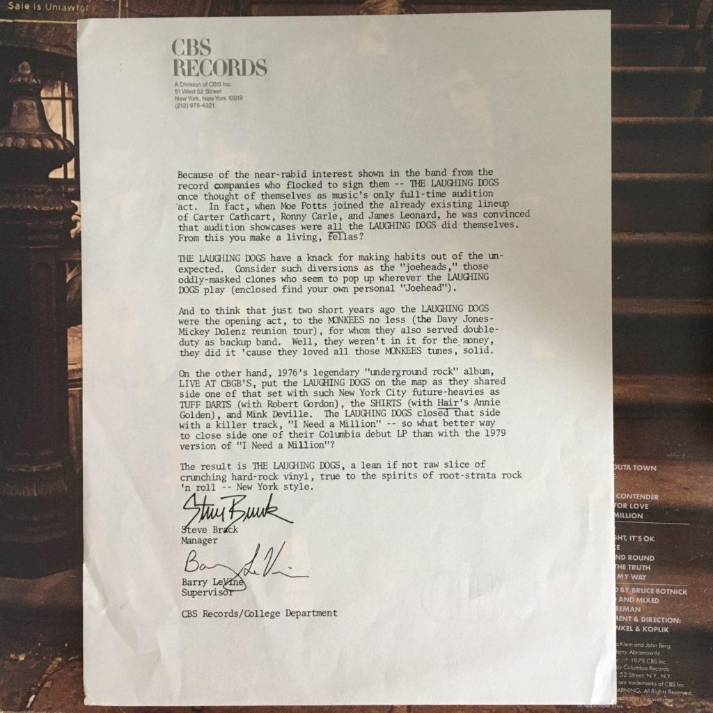 CBS promo letter