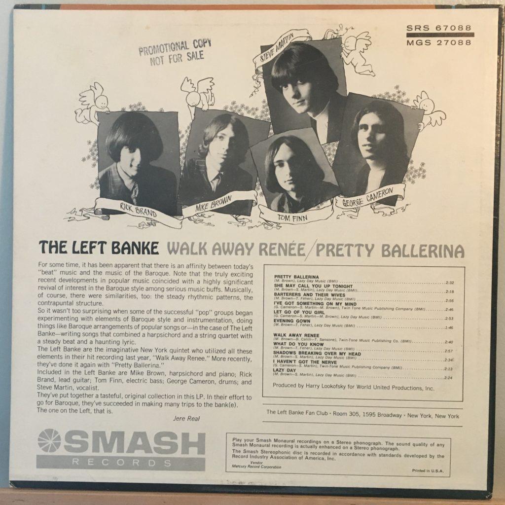 The Left Banke Walk Away Renee back cover