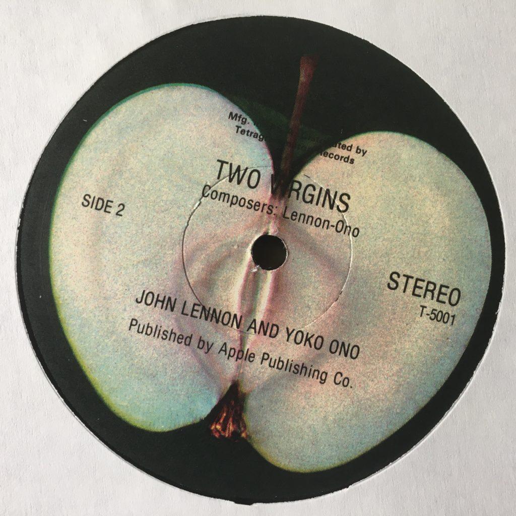 Two Virgins label