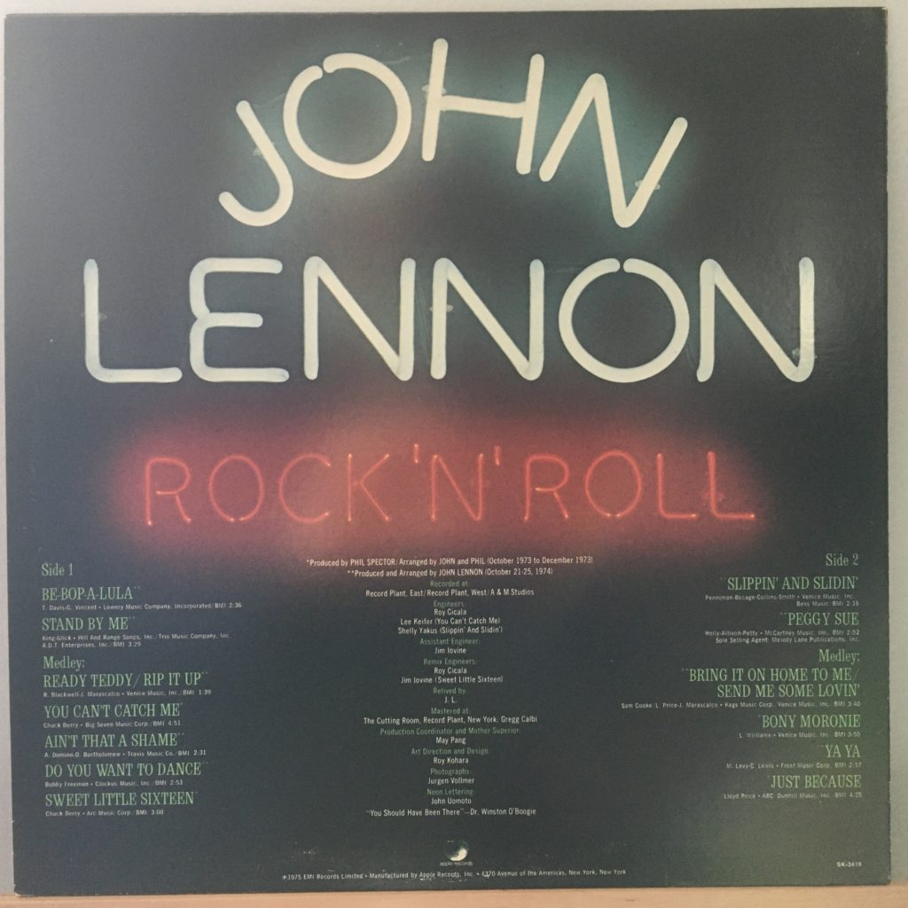Rock 'n' Roll back cover