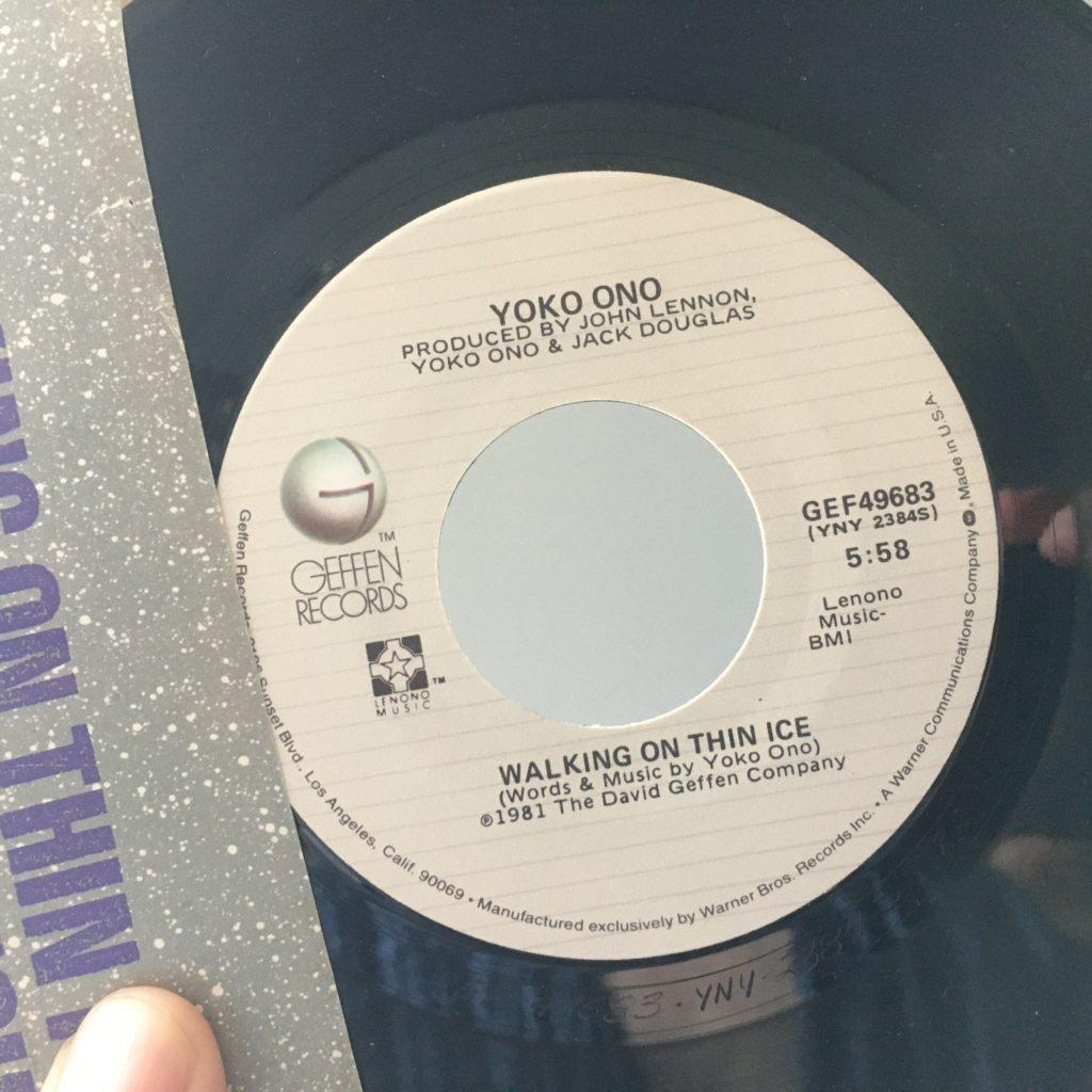 Walking on Thin Ice 45 label