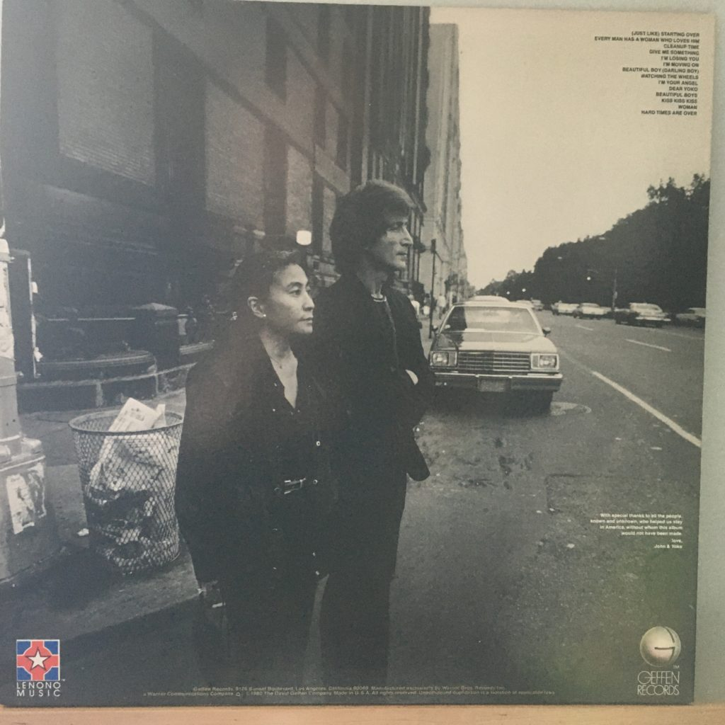 Double Fantasy back cover